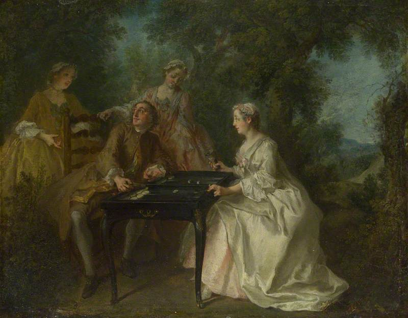 The Four Times of Day Afternoon, 1739 by Nicolas Lancret (1690-1743, France) | Oil Painting | WahooArt.com