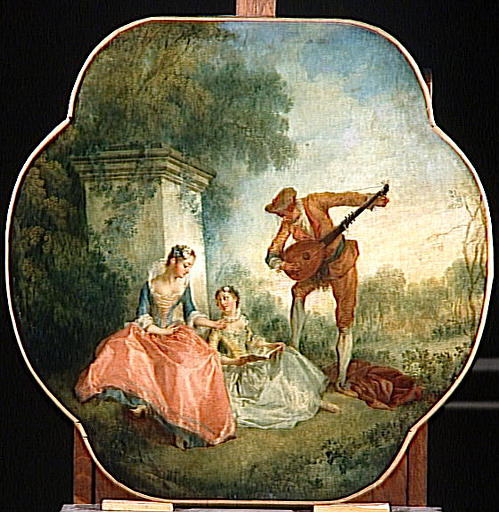 LA LECON DE MUSIQUE by Nicolas Lancret (1690-1743, France) | Oil Painting | WahooArt.com
