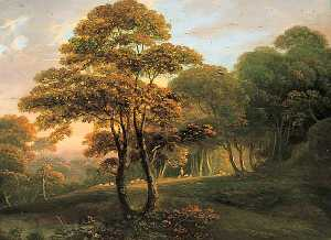 John Rathbone - Landscape, Sunny Evening