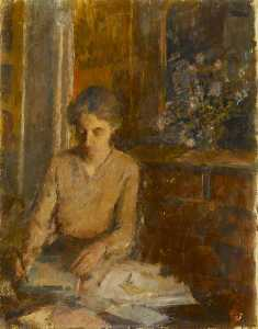 Rupert Shephard - Woman Writing a Letter