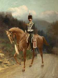 Thomas Bowman Garvie - Captain William Henry Armstrong Fitzpatrick Watson Armstrong (1863–1941), Later 1st Baron Armstrong of Bamburgh and Cragside, in the Uniform of the Northumberland Hussars