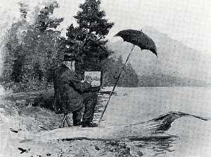 Anna Richards Brewster - William Trost Richards at Lake Placid, 1904, (painting)
