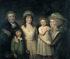 Henry Singleton - James Boswell and his Family
