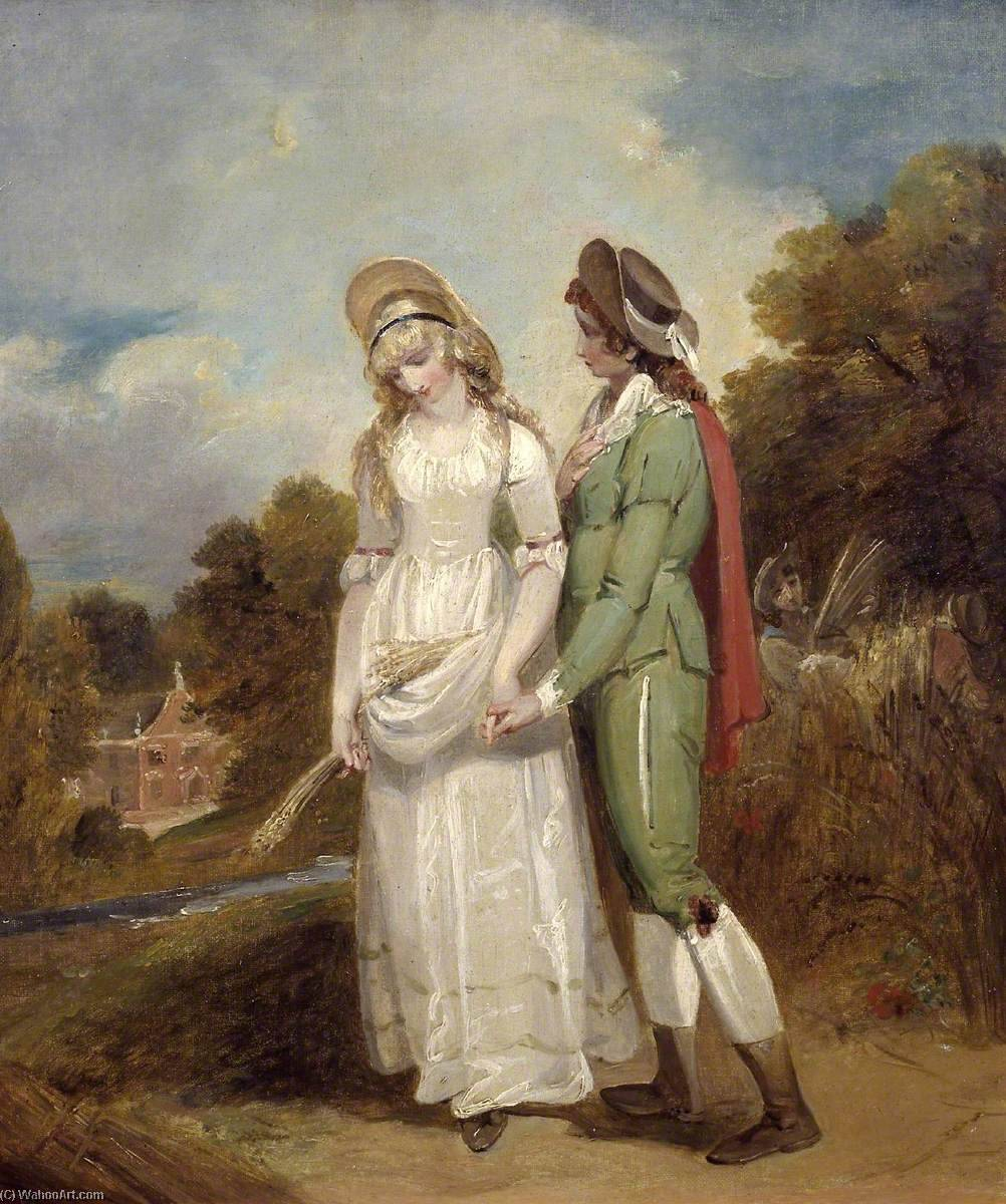 Order Art Reproductions | Palemon and Lavinia, 1792 by Henry Singleton (1766-1839, United States) | WahooArt.com