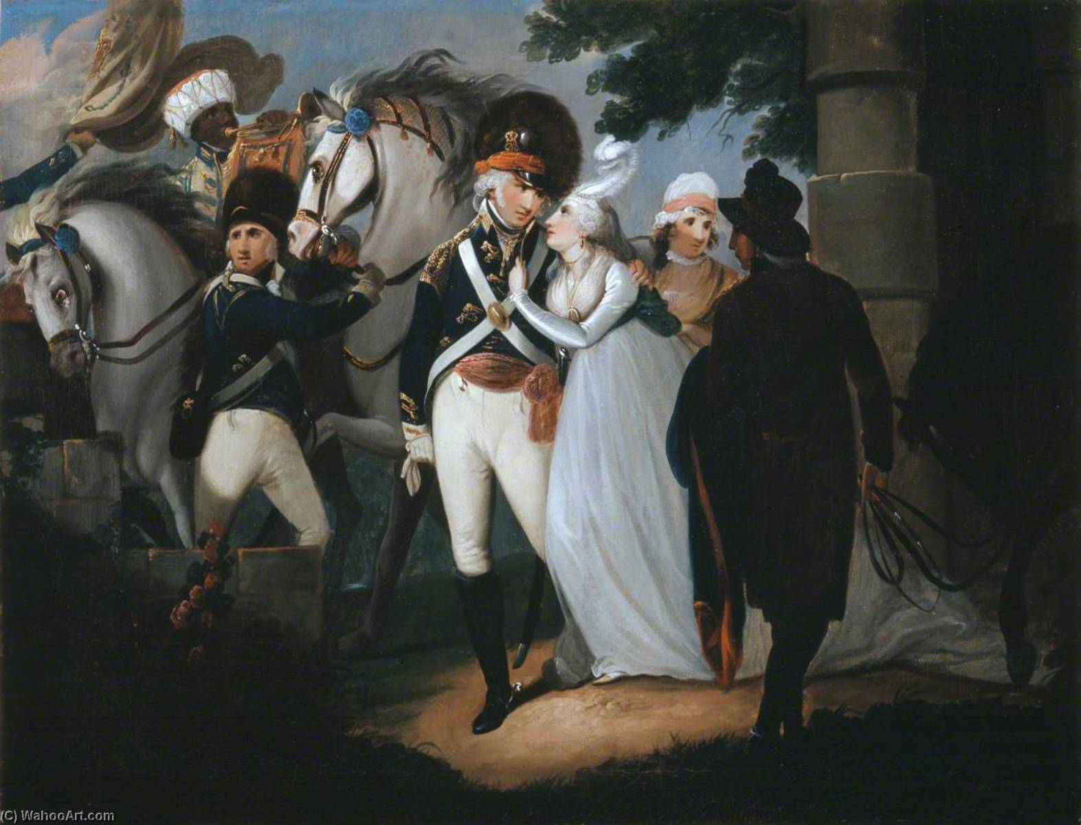 An Officer of Light Dragoons Taking Leave of His Wife, 1795 by Henry Singleton (1766-1839, United States) | Reproductions Henry Singleton | WahooArt.com
