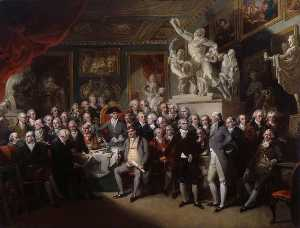 Henry Singleton - The Royal Academicians in General Assembly