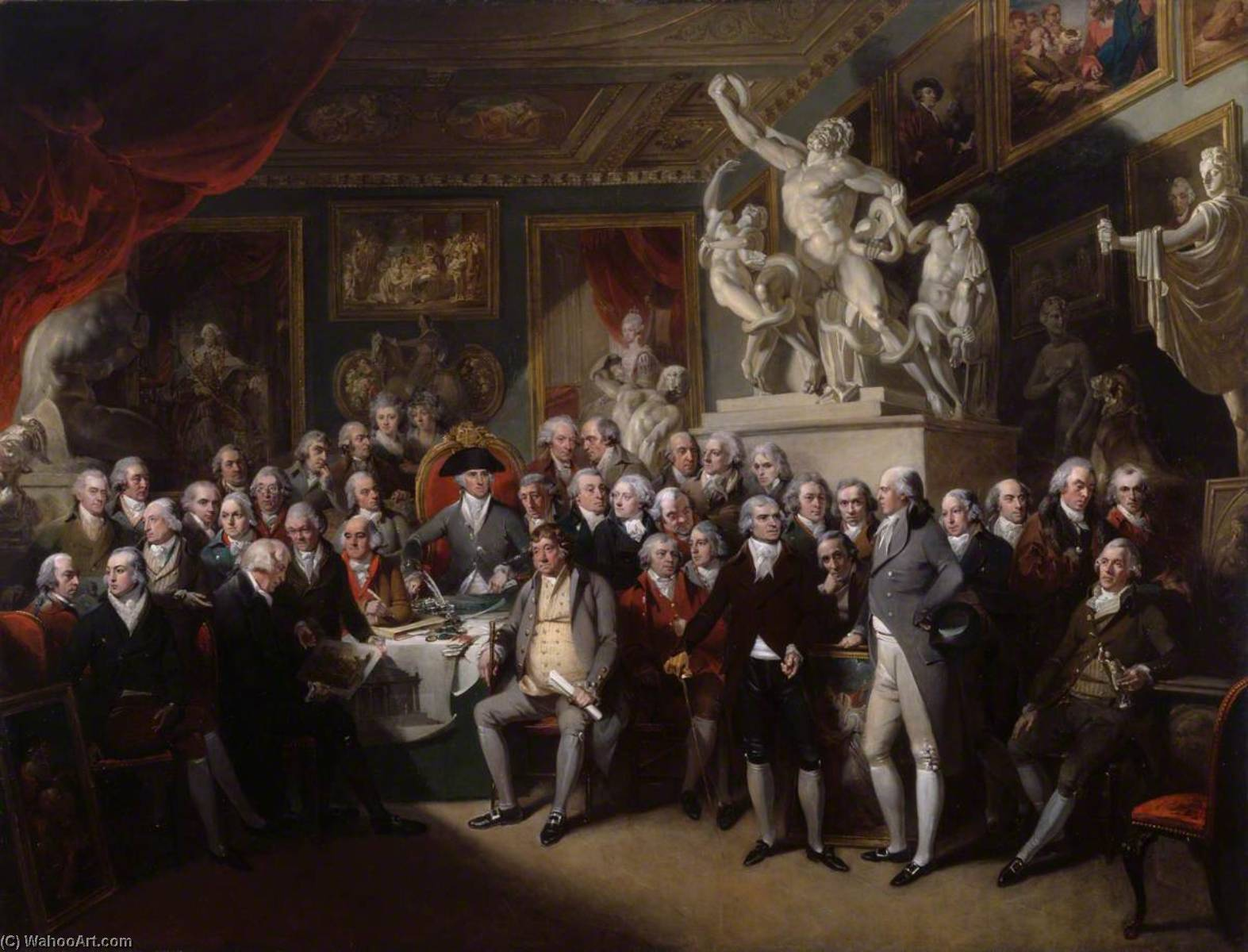 The Royal Academicians in General Assembly, 1795 by Henry Singleton (1766-1839, United States) | Famous Paintings Reproductions | WahooArt.com