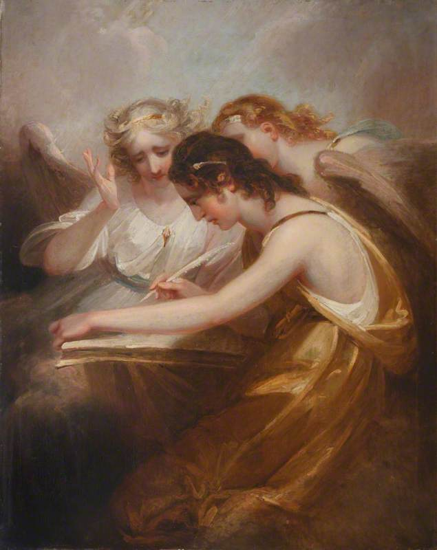 Recording Angels by Henry Singleton (1766-1839, United States) | Paintings Reproductions Henry Singleton | WahooArt.com