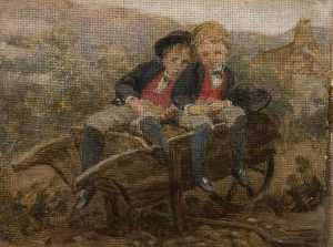 Louisa Starr Canziani - Sketch of the Honourables Dudley and Archie Hamilton Gordon