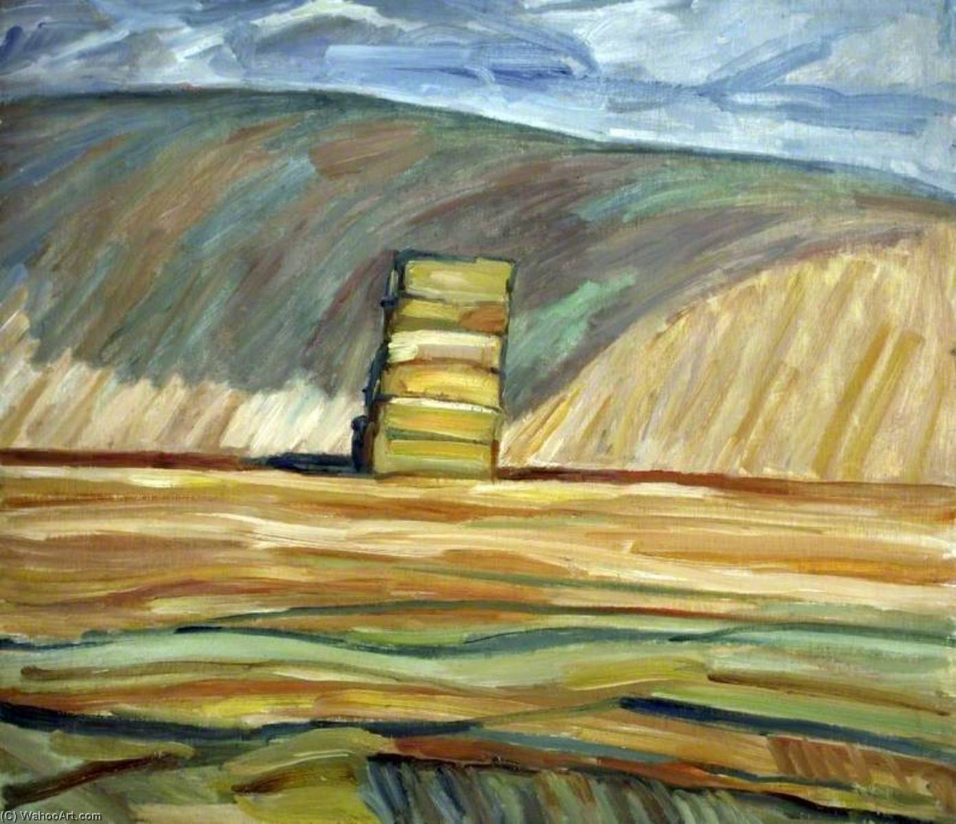 Straw Stack near Stoke, Staffordshire, Oil by Nick Schlee