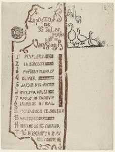 Emile Bernard - Catalogue for the Van Gogh Exhibition at Le Barc de Boutteville and Lottery Ticket