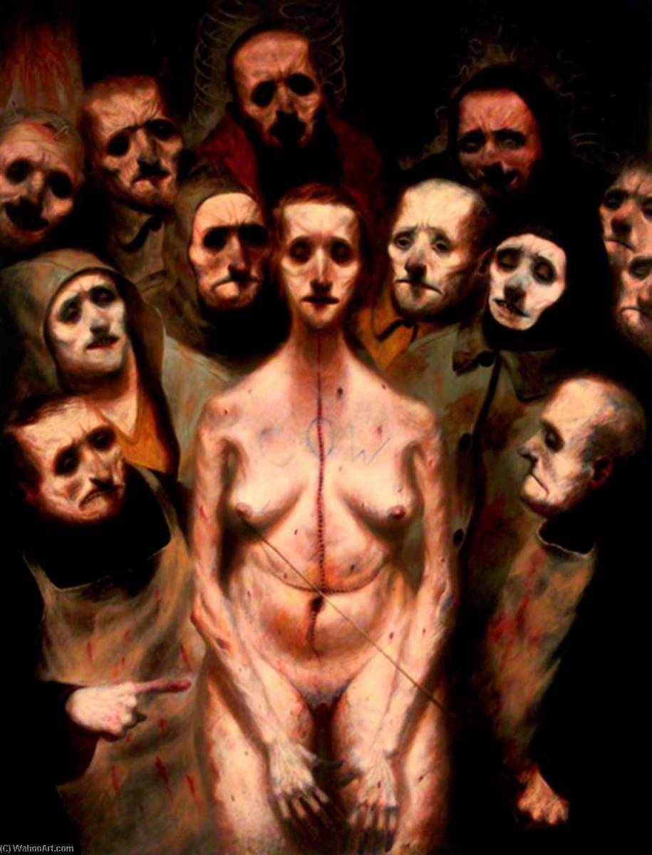 Anatomy Lesson (polyptych, right panel), 1990 by Ken Currie | Painting Copy | WahooArt.com