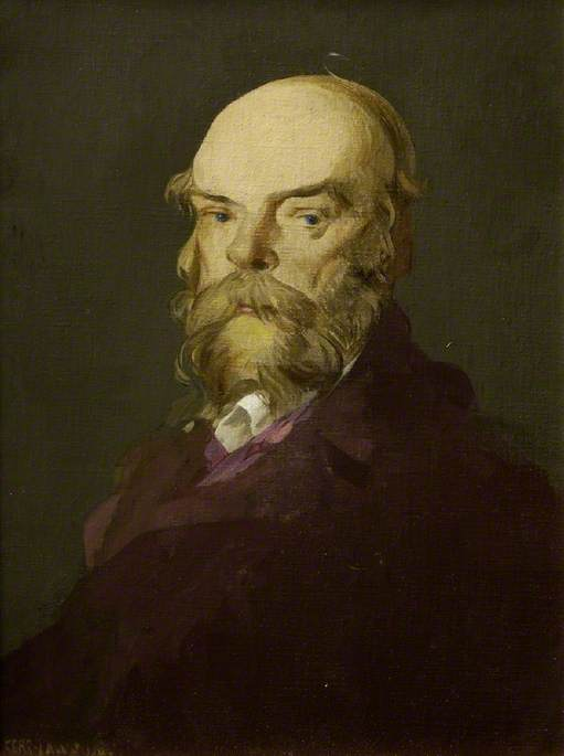Paul Verlaine, Oil On Canvas by James Kerr Lawson (1862-1939)