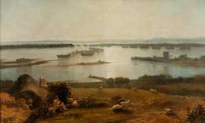 Thomas Christopher Hofland - Hulks in Portsmouth Harbour
