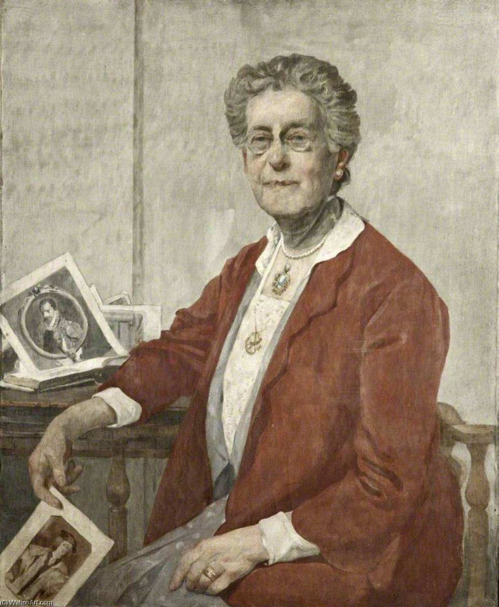 Mrs Thomas Brocklebank (d.1937), Oil On Canvas by James Kerr Lawson (1862-1939)