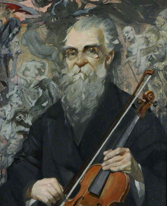 Order Museum Quality Reproductions : Spanish Cellist, Agustín Rubio, 1930 by James Kerr Lawson (1862-1939) | WahooArt.com