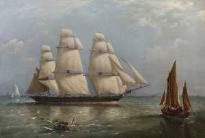 Richard Brydges Beechey - 'HMS Pelican' Homeward Bound in the English Channel, 1866 (Commander, Ralph P. Cator)