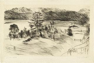 Large Walchensee Landscape (Grosse Walchenseelandschaft), 1924 by Lovis Corinth (Franz Heinrich Louis) (1858-1925, Netherlands) | Art Reproduction | WahooArt.com