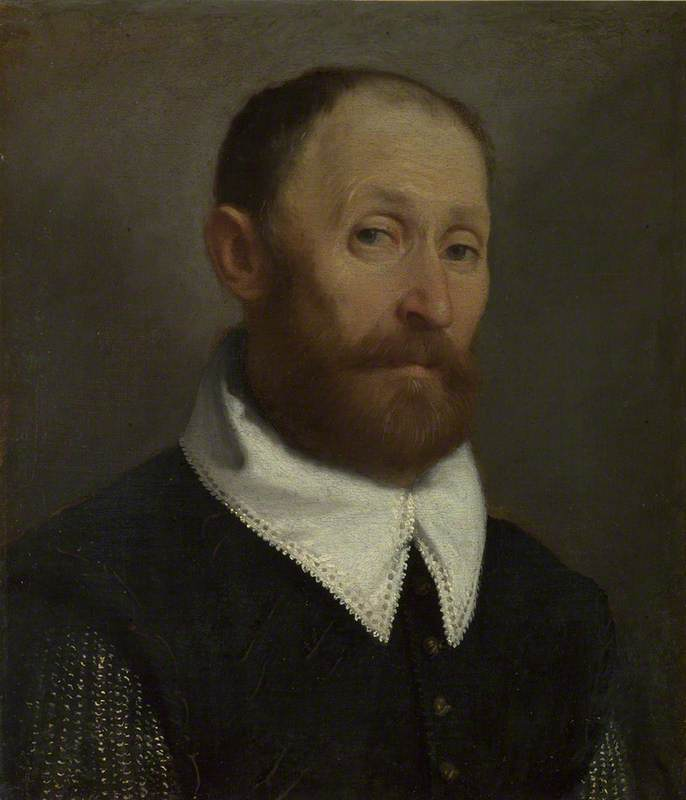 Portrait of a Man with Raised Eyebrows by Giovanni Battista Moroni (1525-1578, Italy) | Museum Quality Copies Giovanni Battista Moroni | WahooArt.com