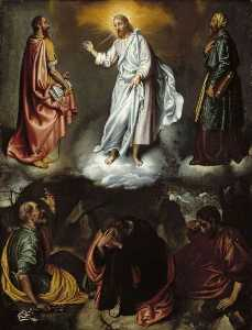Order Paintings Reproductions | The Transfiguration by Giovanni Battista Moroni (1525-1578, Italy) | WahooArt.com