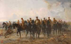 Elizabeth Southerden Thompson Butler - The Royal Horse Guards Retreat from Mons, 1914