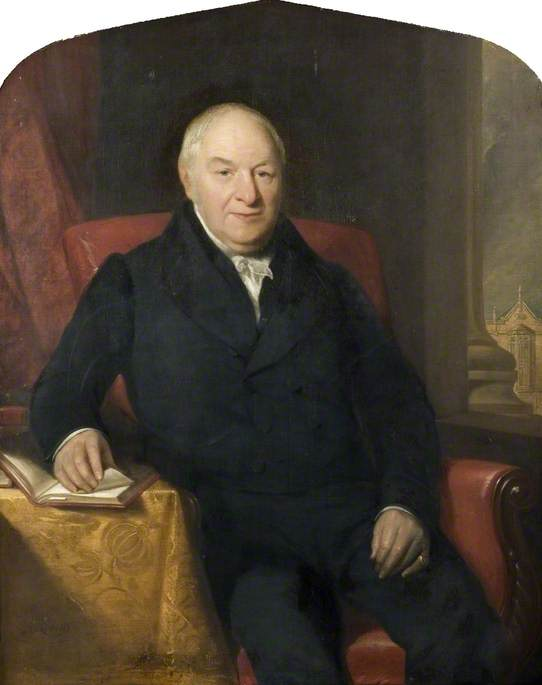 Edward Johnstone (1757–1851), Principal of Queen's College, Birmingham, Oil On Canvas by Henry Room
