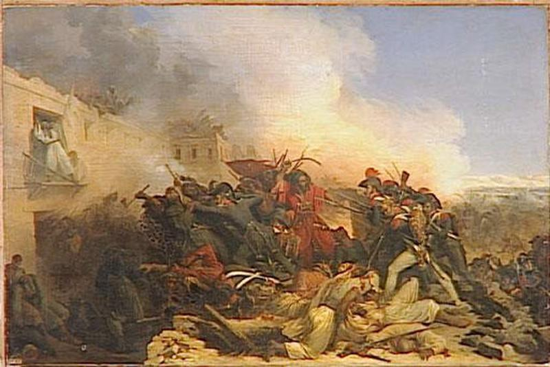 COMBAT DE BENOUTH.8 MARS 1799 by Jean Charles Langlois (1789-1870) | Painting Copy | WahooArt.com