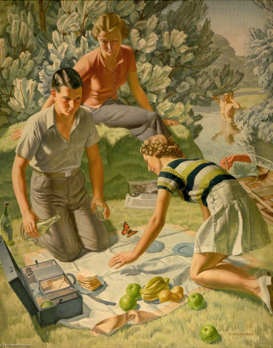 Picnic by Harold Sandys Williamson (1892-1978) |  | WahooArt.com