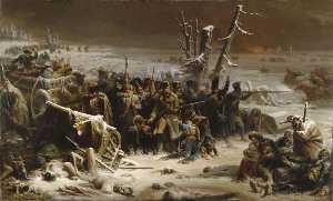 Adolphe Yvon - Marshal Ney Supporting the Rear Guard during the Retreat from Moscow