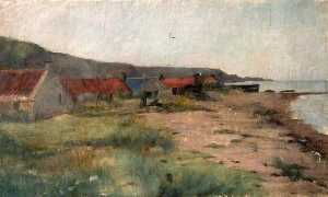 Wilfrid Williams Ball - Cottages near Shore Line