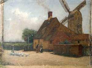 Wilfrid Williams Ball - Windmill and Geese
