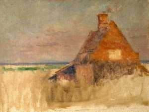 Wilfrid Williams Ball - Cottage in a Rural Setting