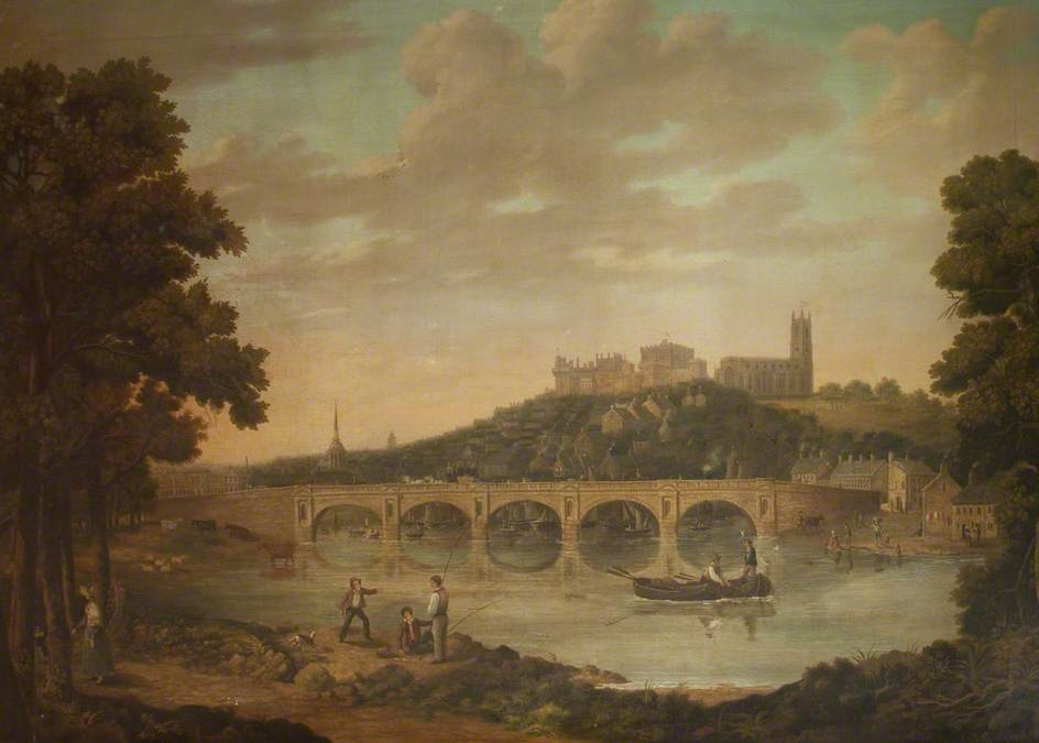 Lancaster from Ladies' Walk, Oil On Canvas by John Henderson (1797-1878)