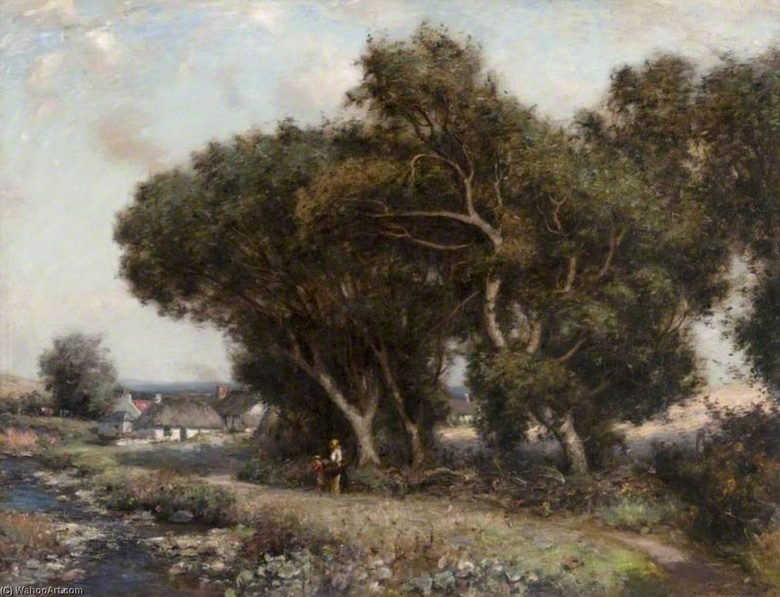 The Path by the Stream, Oil On Canvas by John Henderson (1797-1878)
