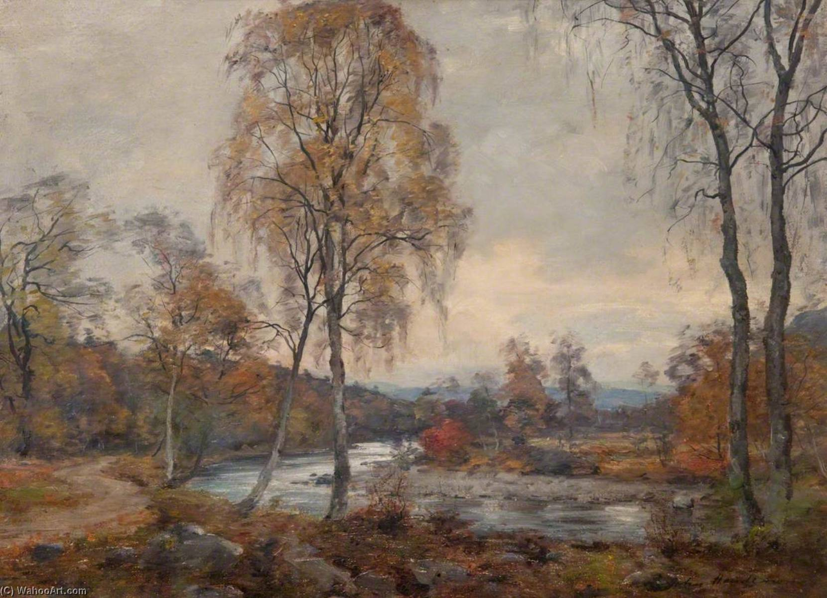 The Blairie Burn, Glen Moriston by John Henderson (1797-1878) | Museum Quality Reproductions | WahooArt.com