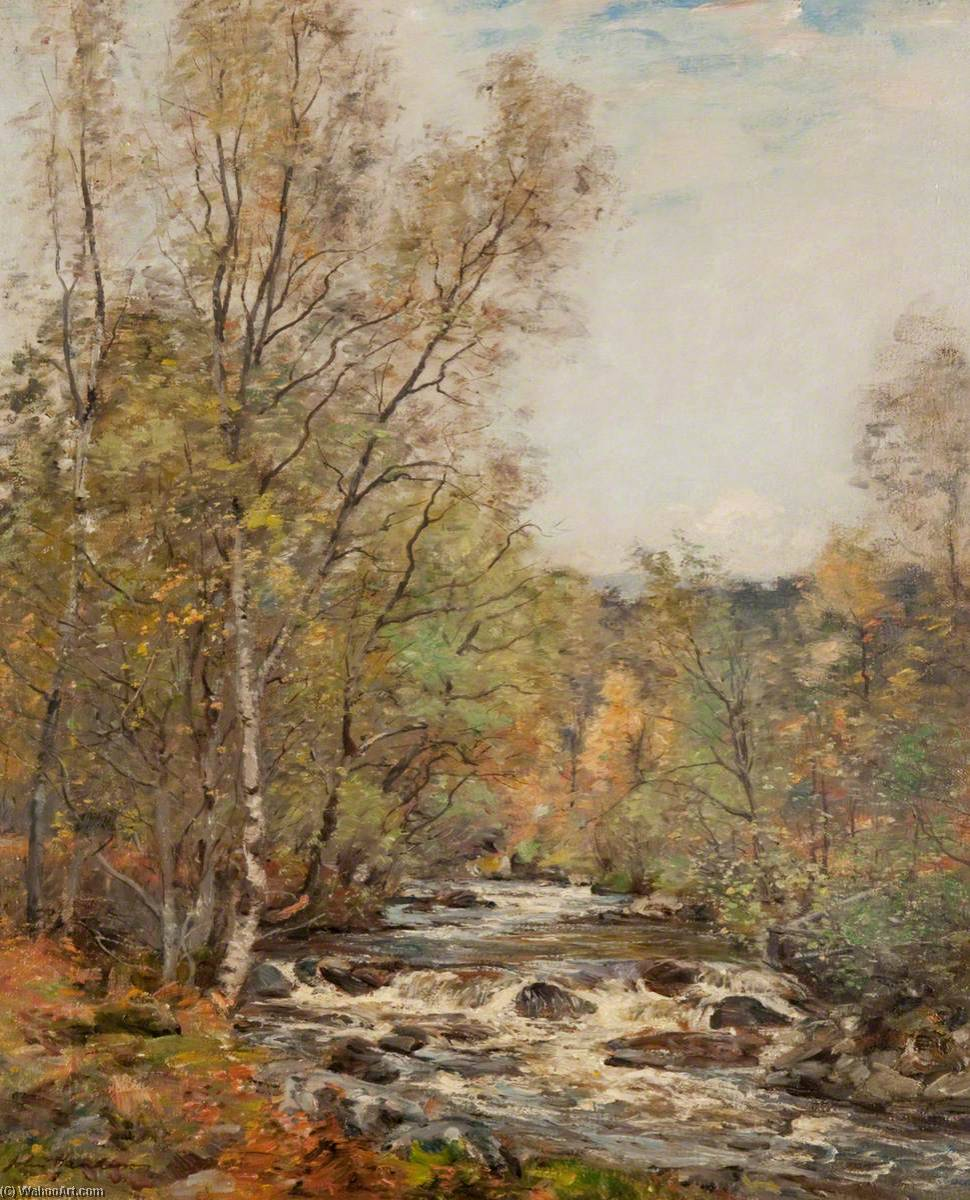 The Moriston River, Oil On Canvas by John Henderson (1797-1878)