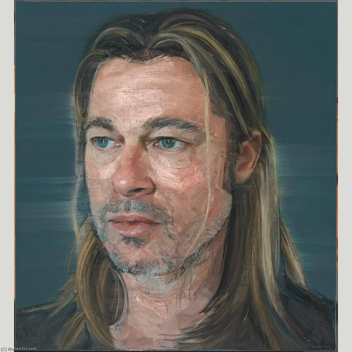 Brad Pitt, 2013 by Colin Davidson | Oil Painting | WahooArt.com