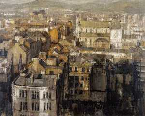 Colin Davidson - Belfast Landscape St Anne's from River House