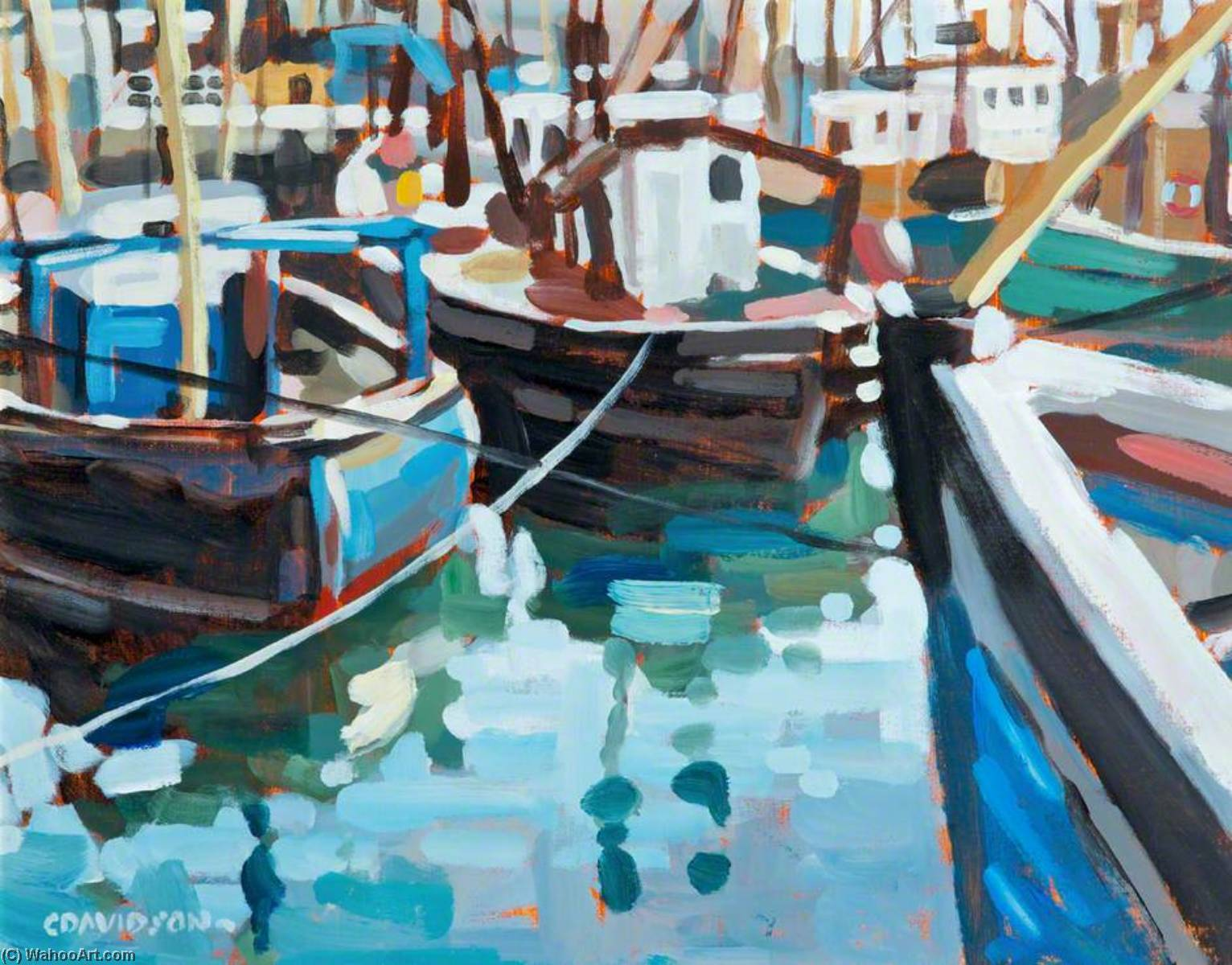 Fishing Boats by Colin Davidson | Museum Quality Reproductions | WahooArt.com