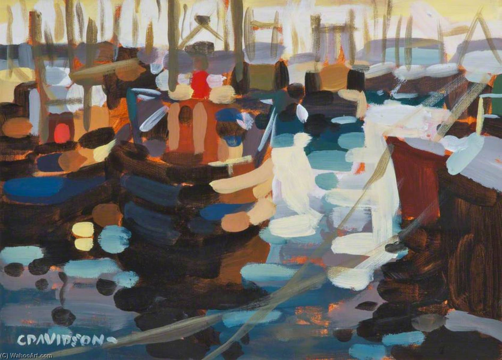 Order Museum Quality Copies | Fishing Boats by Colin Davidson | WahooArt.com