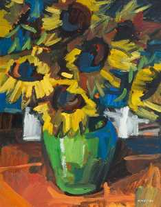 Colin Davidson - Still Life with Sunflowers
