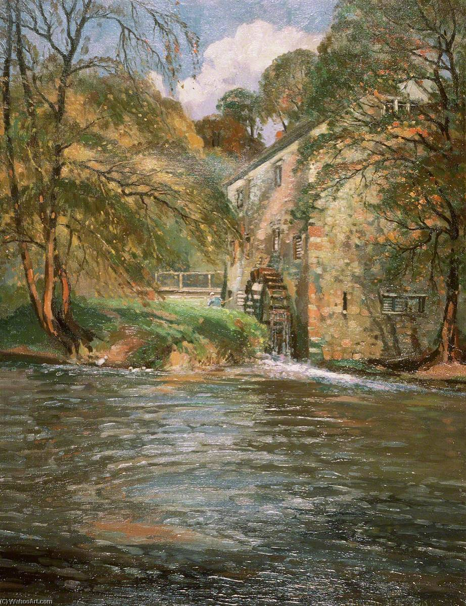 Autumn on the Monnow, 1940 by Donald Henry Floyd (1892-1965) | Painting Copy | WahooArt.com