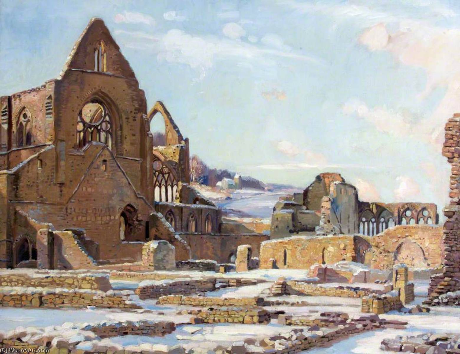 Glory of Stones, Tintern Abbey by Donald Henry Floyd (1892-1965) | Museum Quality Reproductions | WahooArt.com