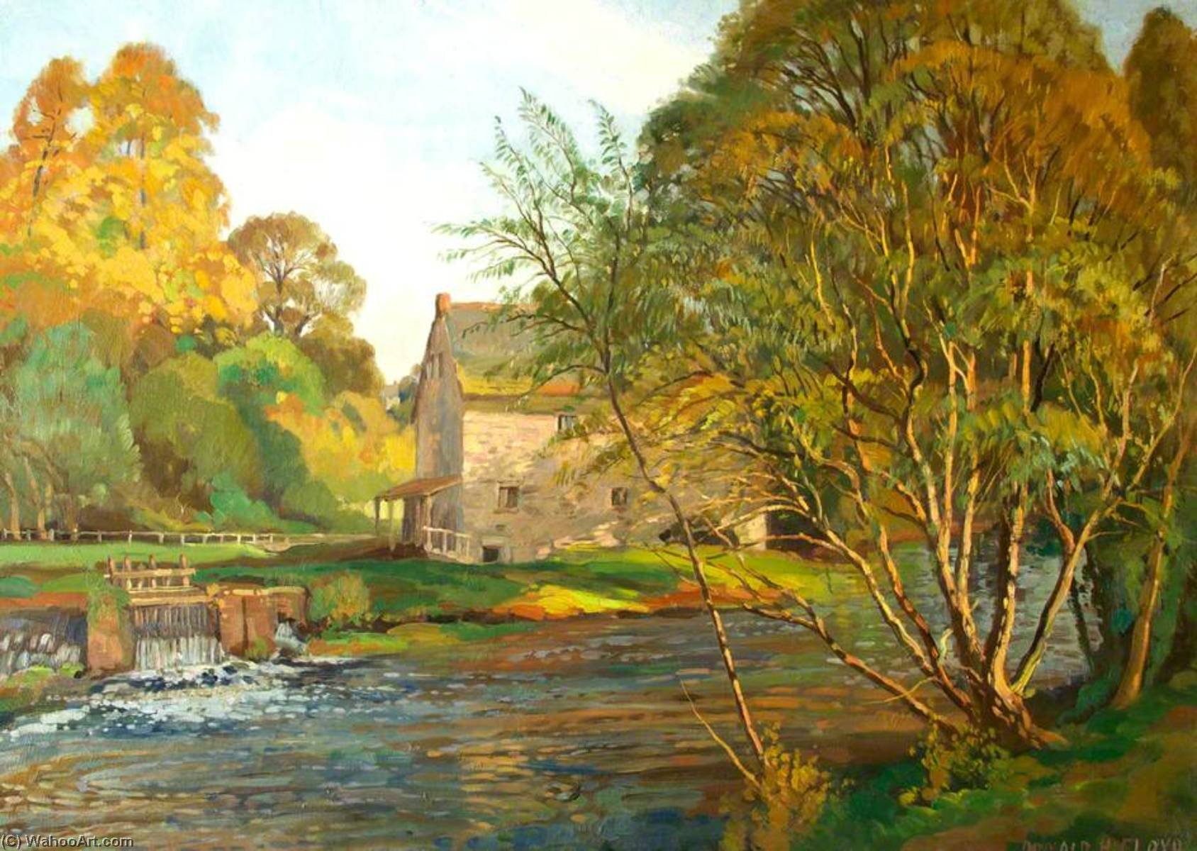 Monnow Mill by Donald Henry Floyd (1892-1965) | Famous Paintings Reproductions | WahooArt.com
