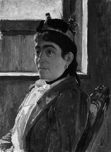 Portrait présumé de Mme Daguerre by Jean-Paul Laurens (1838-1921, France) | Painting Copy | WahooArt.com