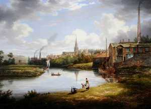 William Cowen - View of Rotherham, South Yorkshire