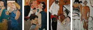 Chantal Joffe - Untitled Series of Four Paintings (A, B, C, D)