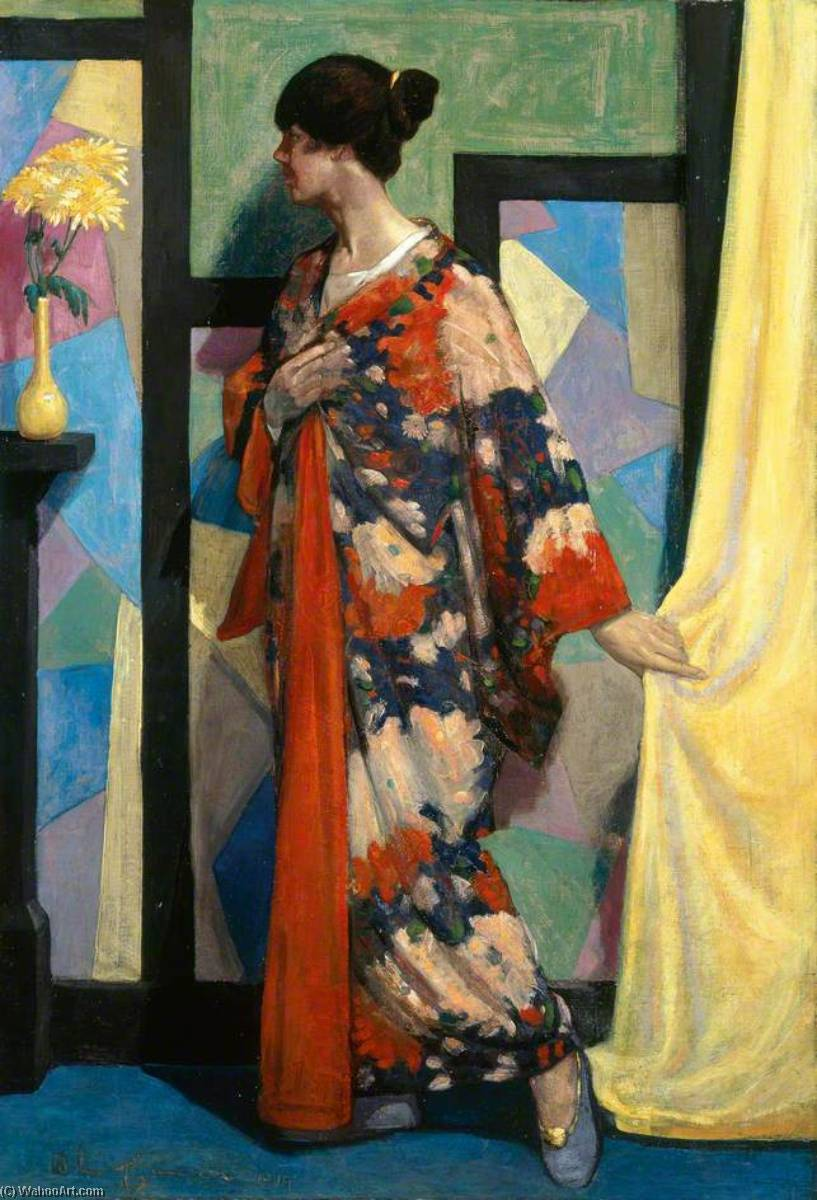 Kimono Study, 1919 by William Mccance | Famous Paintings Reproductions | WahooArt.com