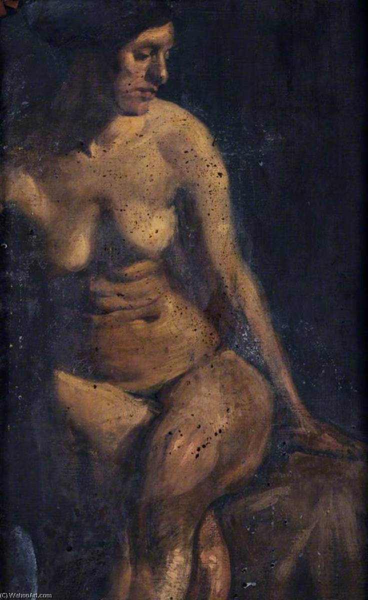 Nude by William Mccance | Famous Paintings Reproductions | WahooArt.com