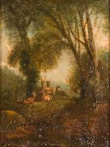 Order Paintings Reproductions | Newnham Park, Plympton, South by Ambrose Bowden Johns (1776-1858) | WahooArt.com